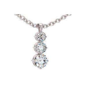 2.25 Carats Brilliant Cut Diamonds Pendant Necklac